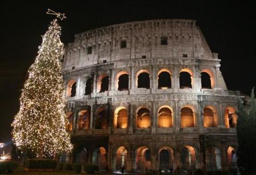 Coliseo de Roma en Navidad