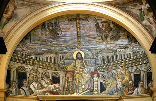 Las pinturas de la iglesia de Santa Pudenziana