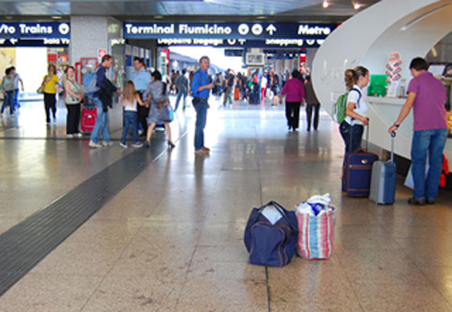 Fiumicino, el aeropuerto mas transitado de Roma