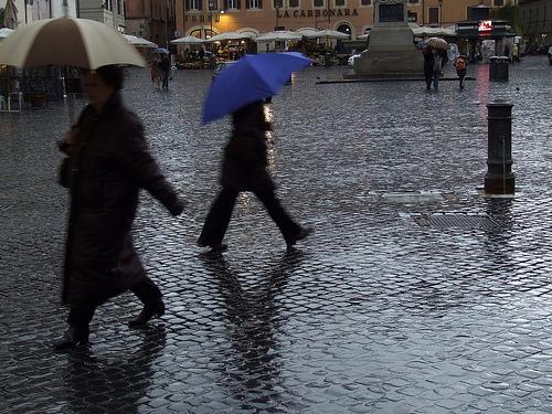 lluvia en roma