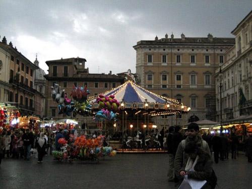 mercado de navidad piazza navona
