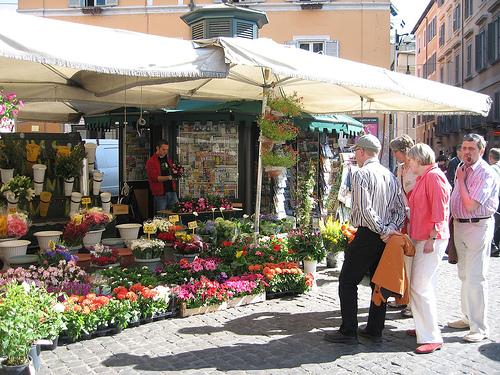 Algunos mercados en Roma