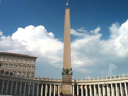 El obelisco egipcio del Vaticano